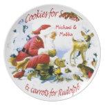 Personalice las galletas del navidad para el nombr plato