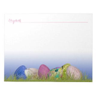 Personalice las medias docenas huevos de Pascua Bloc De Notas
