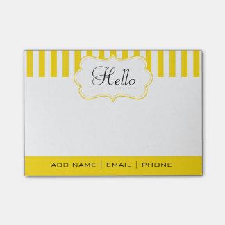 Personalice las rayas con clase del amarillo del post-it® notas
