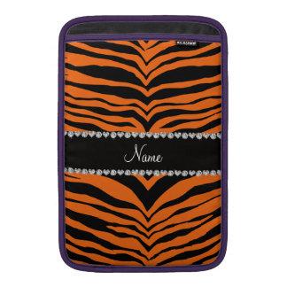 Personalice las rayas conocidas del tigre de la fundas para macbook air