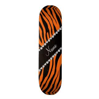 Personalice las rayas conocidas del tigre de la tablas de patinar