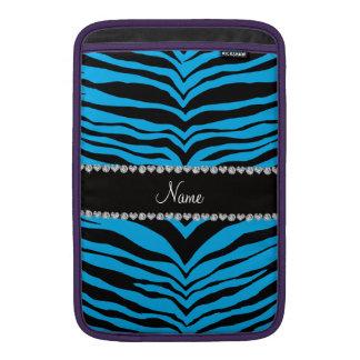 Personalice las rayas conocidas del tigre del azul funda para macbook air