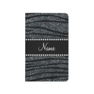 Personalice las rayas grises conocidas de la cebra cuadernos