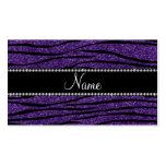Personalice las rayas púrpuras conocidas de la ceb plantilla de tarjeta de negocio