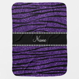 Personalice las rayas púrpuras conocidas de la mantitas para bebé