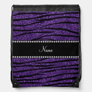 Personalice las rayas púrpuras conocidas de la mochila