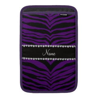 Personalice las rayas púrpuras conocidas del tigre funda para macbook air