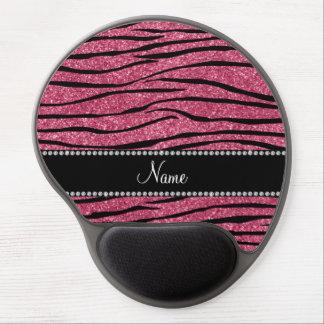 Personalice las rayas rosadas conocidas de la cebr alfombrilla de raton con gel