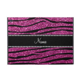 Personalice las rayas rosadas conocidas de la cebr iPad mini protectores