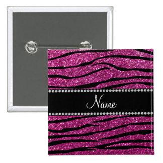 Personalice las rayas rosadas conocidas de la cebr pins