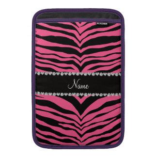 Personalice las rayas rosadas conocidas del tigre fundas MacBook
