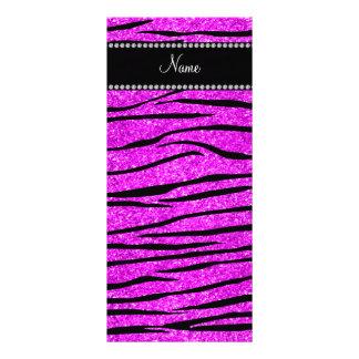 Personalice las rayas rosadas de neón conocidas de plantillas de lonas