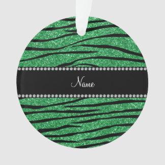 Personalice las rayas verdes conocidas de la cebra