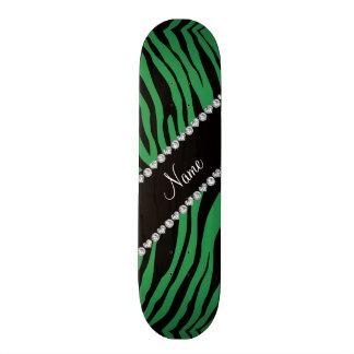 """Personalice las rayas verdes conocidas del tigre patineta 7 7/8"""""""