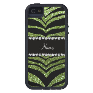 Personalice las tiras verdes claras conocidas del iPhone 5 protector