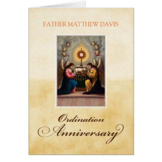 Personalice los ángeles conocidos del aniversario tarjeta de felicitación
