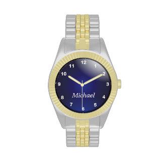 Personalice los números azul marino y blancos con relojes