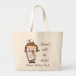 ¡Personalice los regalos triguenos de la enfermera Bolsa Tela Grande
