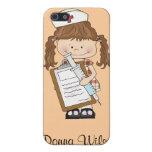 ¡Personalice los regalos triguenos de la enfermera iPhone 5 Protectores