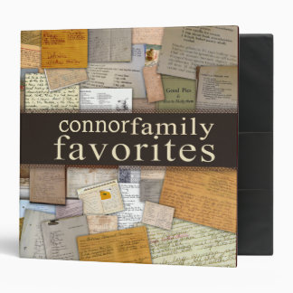 Personalice su propia receta de la familia carpeta
