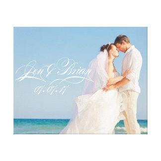 Personalice su retrato de boda especial impresión en lienzo