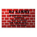 Personalice su tarjeta de visita roja de la pared