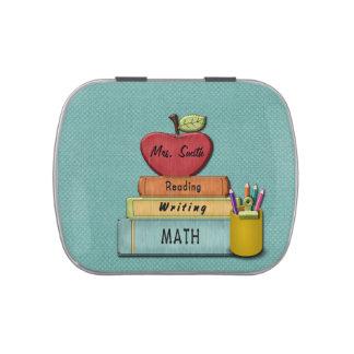 Personalice Teachers', Apple, libros y lápices Latas De Caramelos