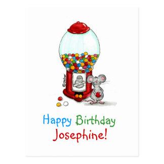Personalice un día lindo del cumpleaños con el postales