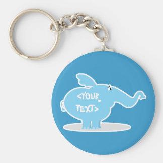 Personalice un elefante, <YOUR TEXT> Llavero Personalizado