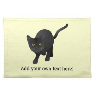 Personalice un gato negro lindo manteles