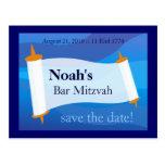 Personalice una postal de Mitzvah de la barra