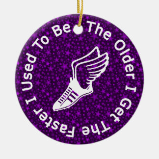 Personalícelo corredor ornamento para arbol de navidad