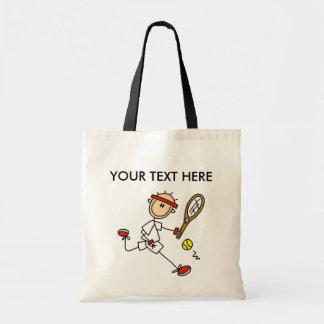 Personalícese la bolsa de asas del tenis de los ho