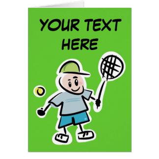 Personalícese tarjeta del tenis