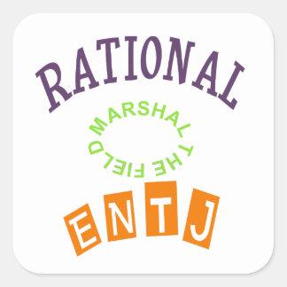 Personalidad de los números racionales de ENTJ Pegatina Cuadrada