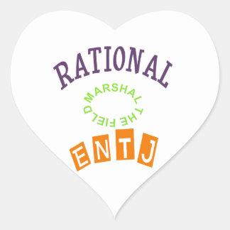 Personalidad de los números racionales de ENTJ Pegatina En Forma De Corazón