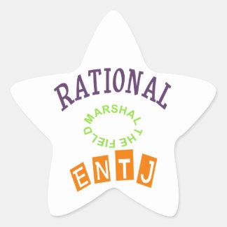 Personalidad de los números racionales de ENTJ Pegatina En Forma De Estrella