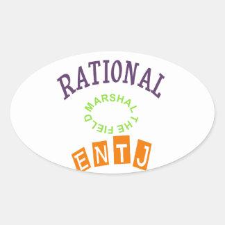 Personalidad de los números racionales de ENTJ Pegatina Ovalada