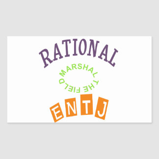 Personalidad de los números racionales de ENTJ Pegatina Rectangular
