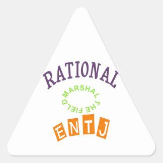 Personalidad de los números racionales de ENTJ Pegatina Triangular