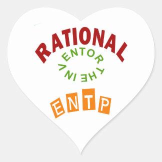 Personalidad de los números racionales de ENTP Pegatina En Forma De Corazón