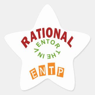 Personalidad de los números racionales de ENTP Pegatina En Forma De Estrella