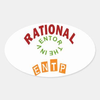 Personalidad de los números racionales de ENTP Pegatina Ovalada