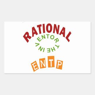 Personalidad de los números racionales de ENTP Pegatina Rectangular