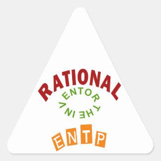 Personalidad de los números racionales de ENTP Pegatina Triangular