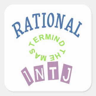 Personalidad de los números racionales de INTJ Pegatina Cuadrada