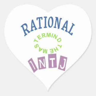 Personalidad de los números racionales de INTJ Pegatina En Forma De Corazón