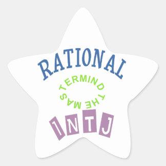 Personalidad de los números racionales de INTJ Pegatina En Forma De Estrella