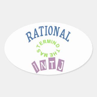Personalidad de los números racionales de INTJ Pegatina Ovalada