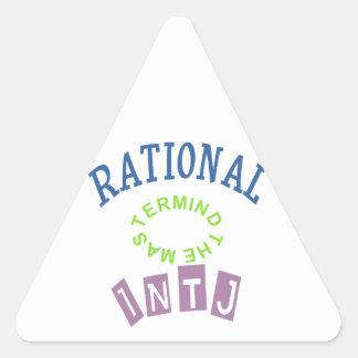 Personalidad de los números racionales de INTJ Pegatina Triangular
